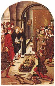 spaljivanje knjiga u srednjem vijeku